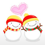 Snowman Mascot the event activity Royalty Free Stock Images