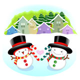 Snowman Mascot the event activity Stock Image