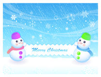 Snowman Mascot the event activity Royalty Free Stock Photos