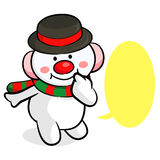 Snowman Mascot the event activity. Christmas Character Design Se Royalty Free Stock Photography