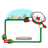 Snowman Mascot using a variety of banner designs Royalty Free Stock Photography