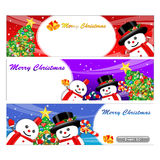 Snowman Mascot using a variety of banner designs. Christmas Char Stock Images