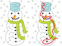 Snowman maze Royalty Free Stock Image