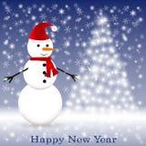 Snowman med scarfen Royaltyfria Bilder