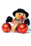 Snowman med toys Royaltyfria Foton