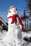 Snowman melting Royalty Free Stock Image