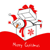 Snowman Merry Christmas Royalty Free Stock Image