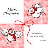 Snowman Merry Christmas Stock Photo