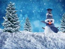 Snowman for merry xmas stock photo