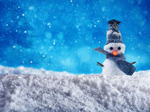 Snowman for merry xmas royalty free stock photo