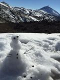 Snowman. Near Teides Peak Tenerife - Islas Canarias, Spain stock photography