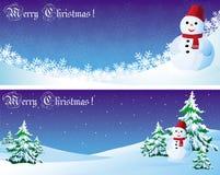 Snowman and needles Stock Photos
