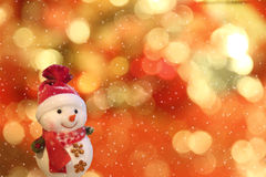 Snowman with neon background. Royalty Free Stock Photos