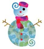 Snowman new look Stock Image