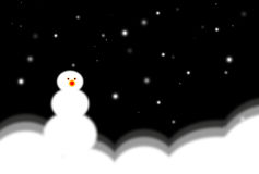 Snowman at night Stock Images