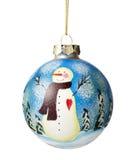 Snowman On Christmas Ball Royalty Free Stock Photo
