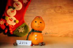 Snowman from orange Royalty Free Stock Photography