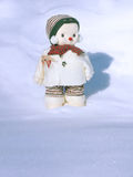Snowman out in the Cold Royalty Free Stock Photo