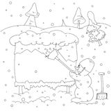 Snowman outline Stock Images