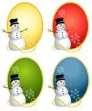 Snowman Oval Logos Stock Photography