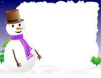 Snowman page border Royalty Free Stock Photos