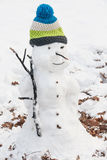 Snowman in the park. Beautiful snowman in the park Stock Photo
