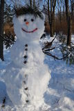 Snowman in park Stock Image
