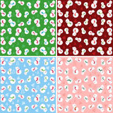 Snowman pattern Royalty Free Stock Photography