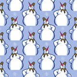Snowman pattern background Royalty Free Stock Photo