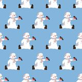 Snowman seamless pattern Stock Photography