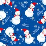 Snowman pattern Stock Photo