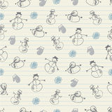 Snowman pattern Royalty Free Stock Photo