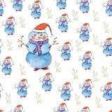 Snowman pattern Royalty Free Stock Image