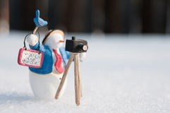 Snowman Photographer Royalty Free Stock Image