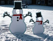 Snowman Picture Frames Royalty Free Stock Images