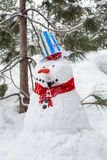 Snowman with a Pipe Stock Photography