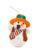 Snowman with pipe in a hat. Royalty Free Stock Photo