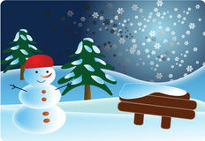 Snowman postcard Royalty Free Stock Photography