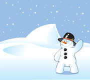 Snowman Postcard Royalty Free Stock Photos