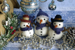 Snowman Postcard Christmas Themes Stock Images