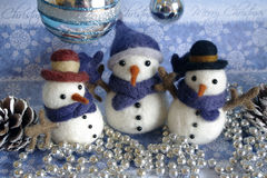 Snowman Postcard Christmas Themes Stock Photo