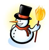 Snowman puppet Royalty Free Stock Photography