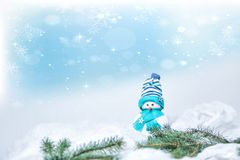 Snowman for merry christmas Stock Images