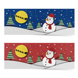 Snowman recycled papercraft on paper background. Stock Photos