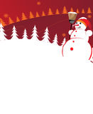 Snowman in a red cap Royalty Free Stock Photo