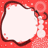 Snowman Red Christmas Card Stock Photography