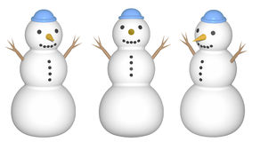 Snowman (render) Stock Images