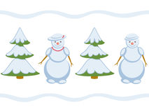 Snowman repeating pattern Stock Image