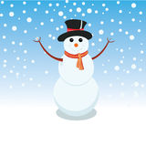 Snowman is representing merry christmas Stock Photography