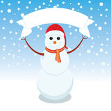 Snowman is representing merry christmas. Snowman is showing happy holidays Stock Photography